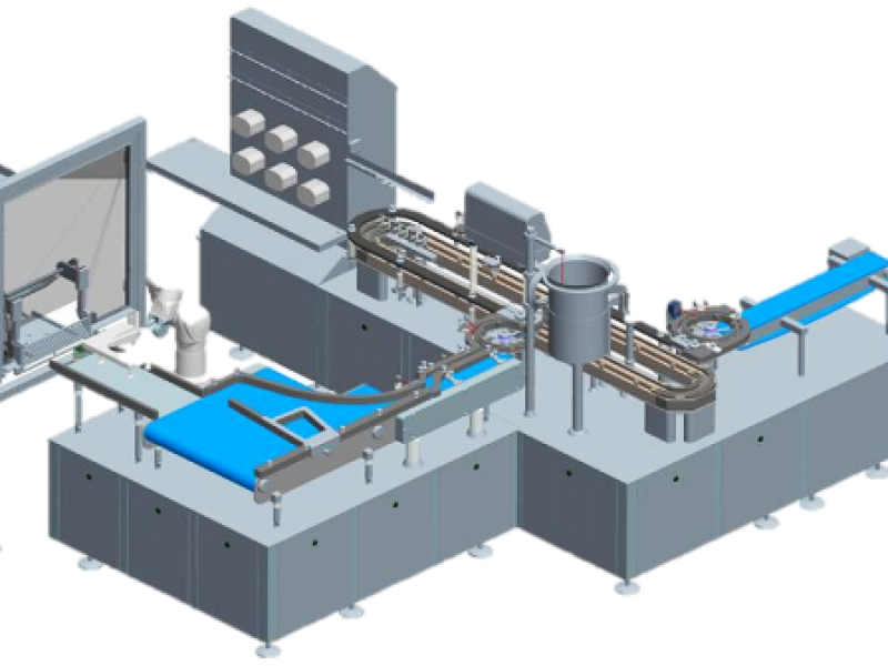 Large scale fully automated filling